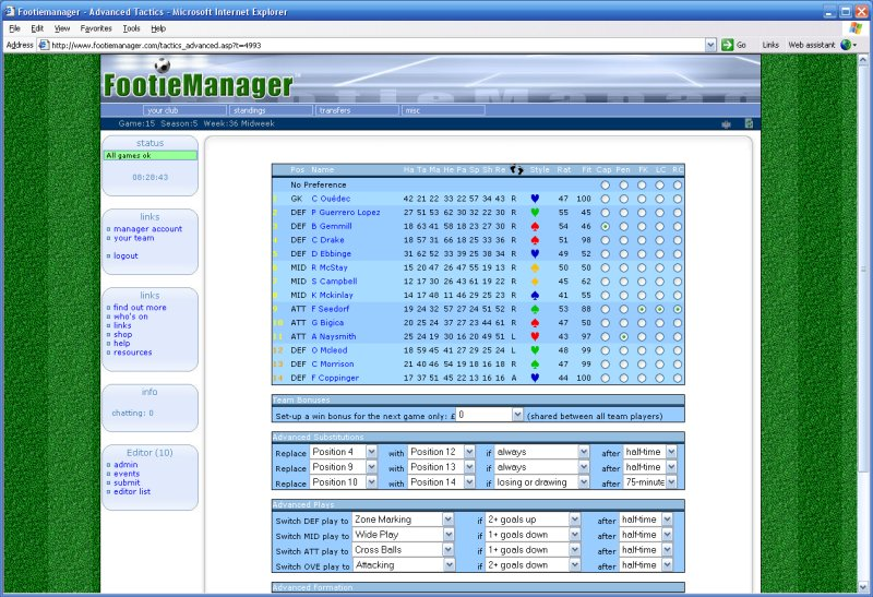 Online Football Manager Game - FootieManager  Footiemanager